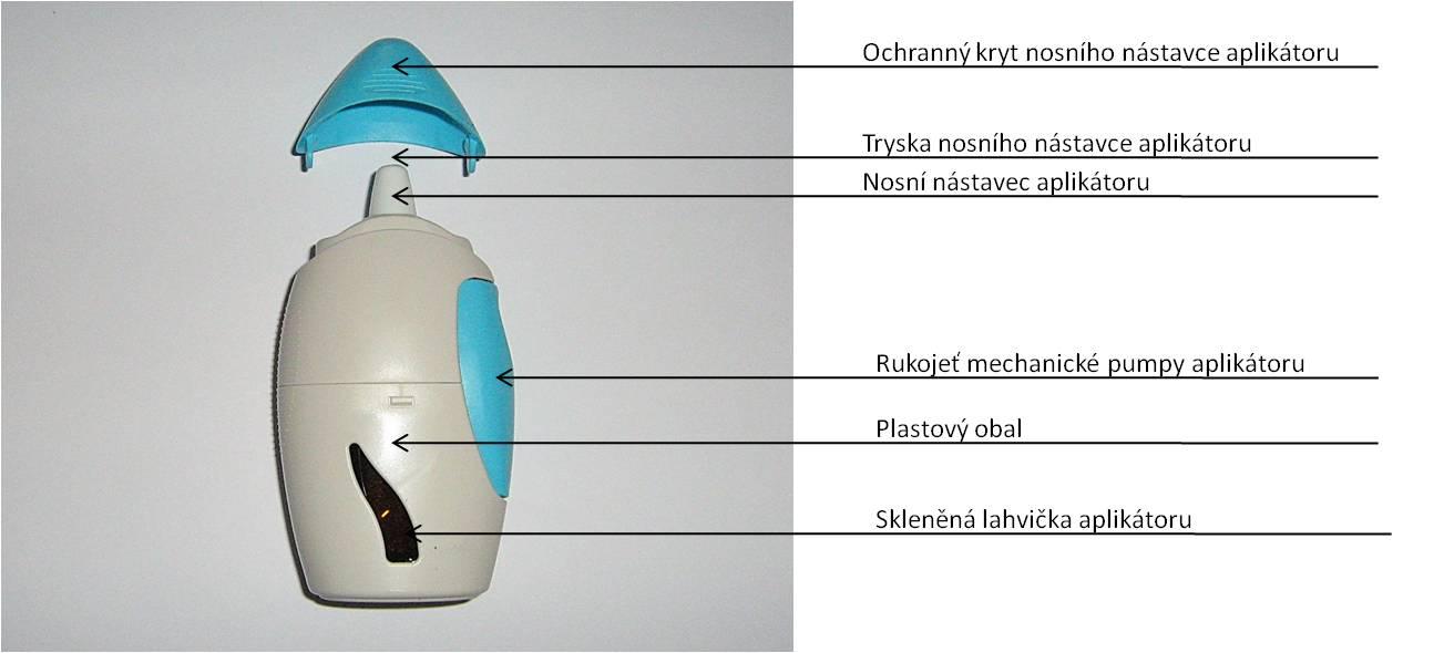 Obr. 5. - Nosní aplikátor pro nosní sprej obsahující fluticason furoát